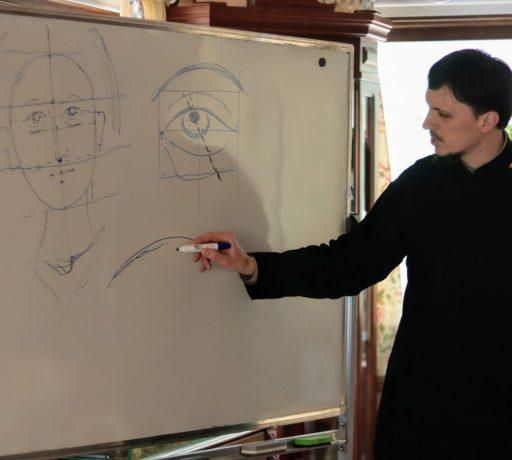 Руководитель иконописного отделения ДДС провёл мастер-класс для студентов Школы золотошвейной мастерской